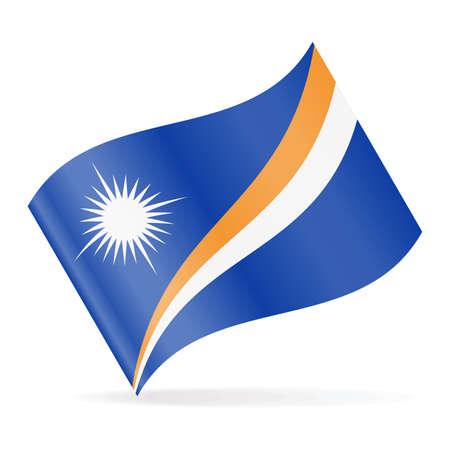 Marshall Islands Flag Vector Waving Icon Illustration