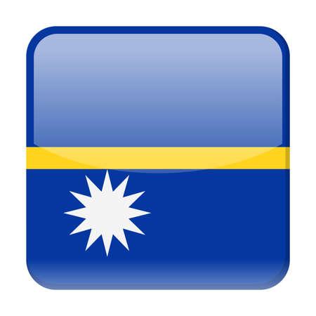 Nauru Flag Vector Square Icon - Illustration Illustration