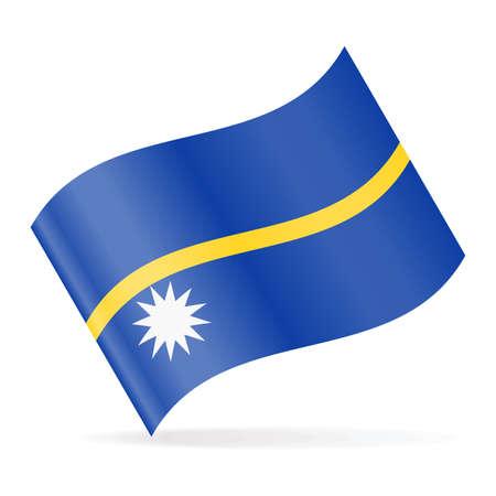 Nauru Flag Vector Waving Icon - Illustration Illustration