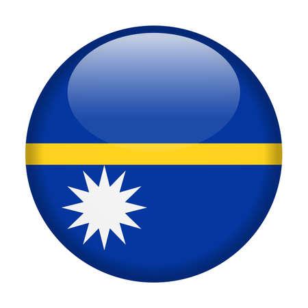 Nauru Flag Vector Round Icon - Illustration