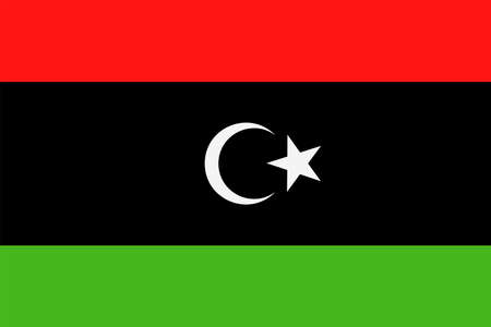 Libya Flag Vector Icon - Illustration 向量圖像