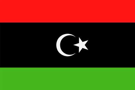 Libya Flag Vector Icon - Illustration Stock Illustratie