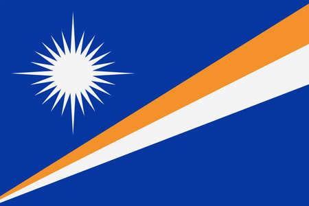 Marshall Islands flag vector bookmark icon - illustration.