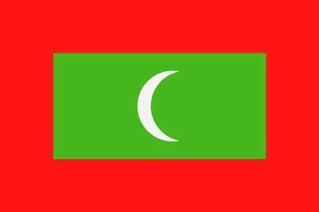 Maldives flag vector bookmark icon - illustration.