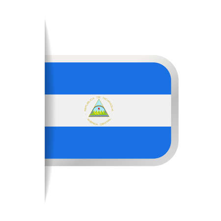 Nicaragua flag vector bookmark icon - illustration.