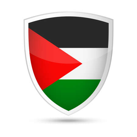 Palestine Flag Vector Shield Icon
