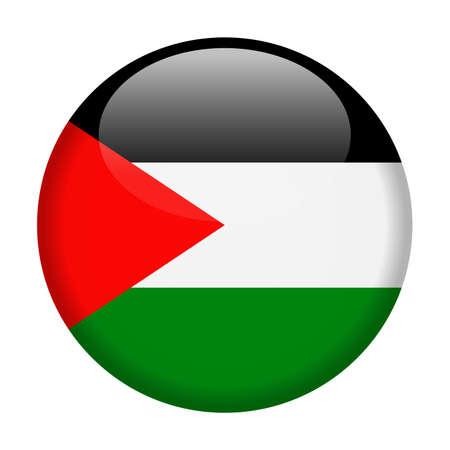 Palestine Flag Vector Round Icon - Illustration