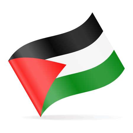 Palestine Flag Vector Waving Icon - Illustration Illustration
