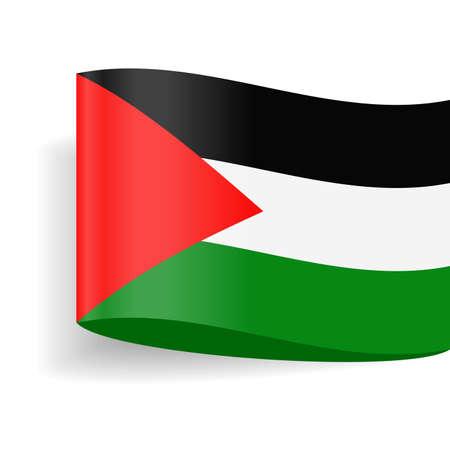 Palestine Flag Vector Icon - Illustration Illustration