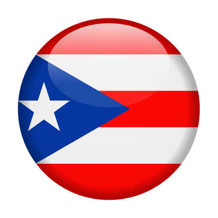 Puerto Rico Flag Vector Round Icon