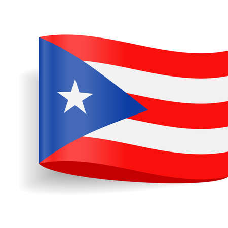 Puerto Rico Flag Vector Icon - Illustration