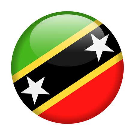 St. Kitts and Nevis Flag Vector Round Icon - Illustration Illustration