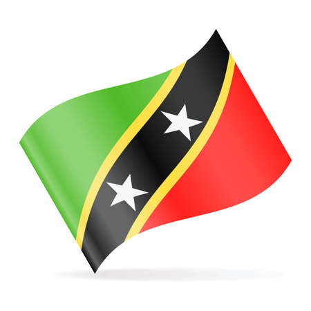 St. Kitts and Nevis Flag Vector Waving Icon