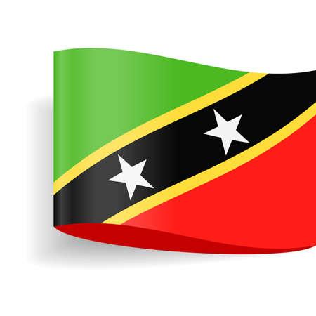 St. Kitts and Nevis Flag Vector Icon - Illustration Illustration