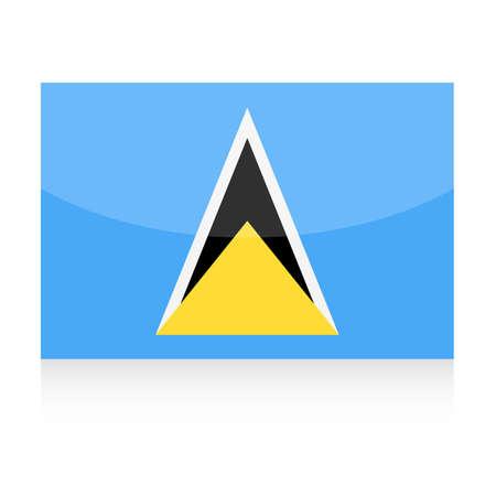 Saint Lucia Flag Vector Icon - Illustration