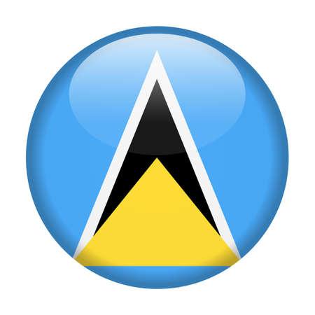 Saint Lucia Flag Vector Round Icon - Illustration