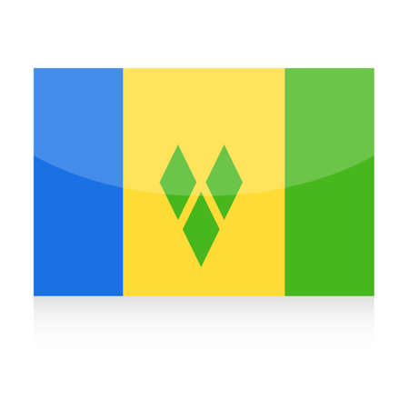 Saint Vincent and the Grenadines Flag Vector Icon - Illustration