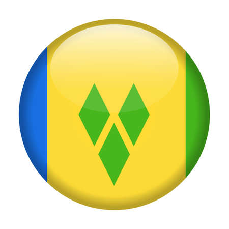 Saint Vincent and the Grenadines Flag Vector Round Icon