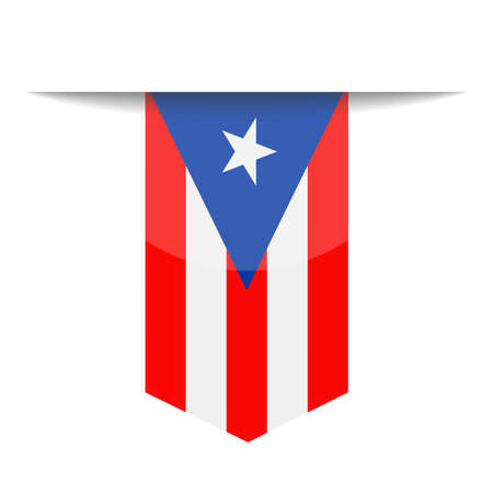 Puerto Rico Flag  Bookmark Icon Illustration Illustration