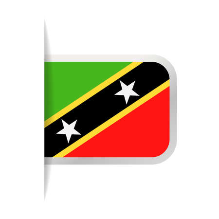 St. Kitts and Nevis Flag Vector Bookmark Icon - Illustration