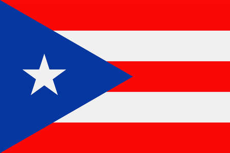 Puerto Rico Flag Icon  Illustration Illustration