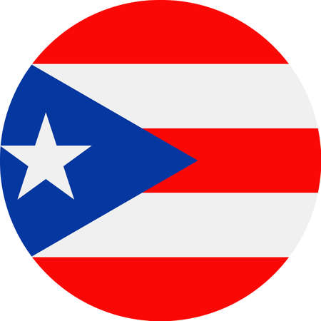 Puerto Rico Flag Vector Round Flat Icon - Illustration