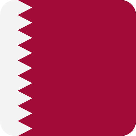 Qatar Flag Square Flat Icon  Illustration