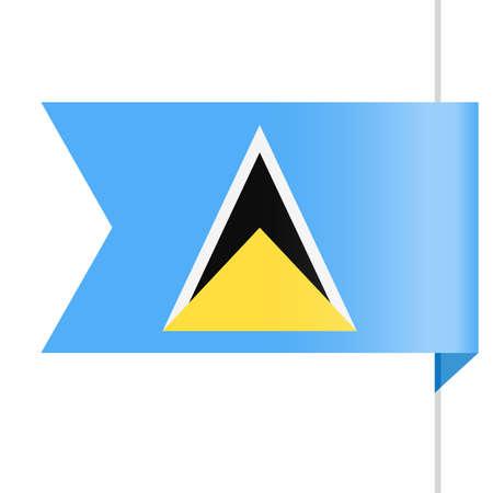 Saint Lucia Flag Vector Bookmark Icon - Illustration
