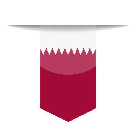 Qatar Flag Bookmark Icon  Illustration Illustration