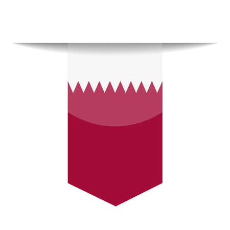 Qatar Flag Bookmark Icon  Illustration Çizim