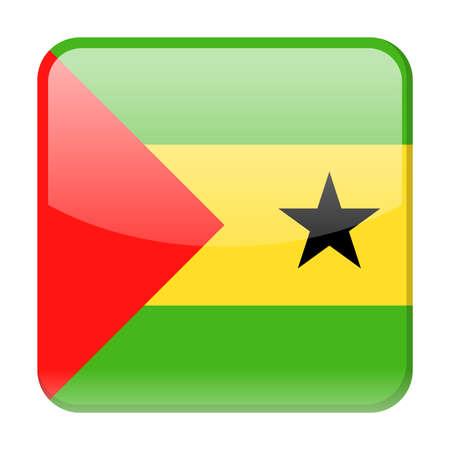 Sao Tome and Principe Flag Vector Square Icon Illustration Illustration