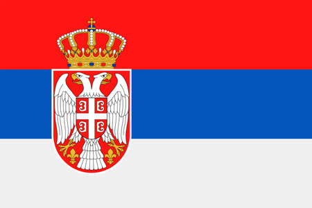 Serbia Flag Vector Icon Illustration
