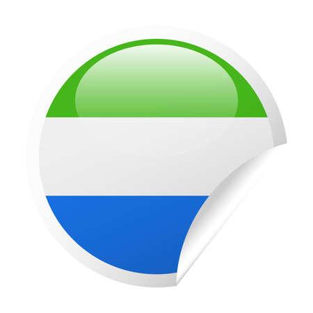 Sierra Leone Flag Vector Round Corner Paper Icon - Illustration