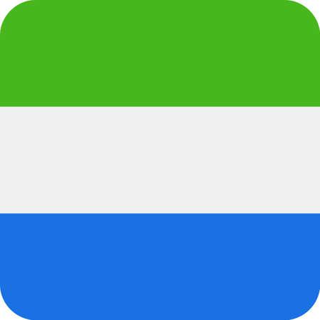 Sierra Leone Flag Vector Square Flat Icon - Illustration