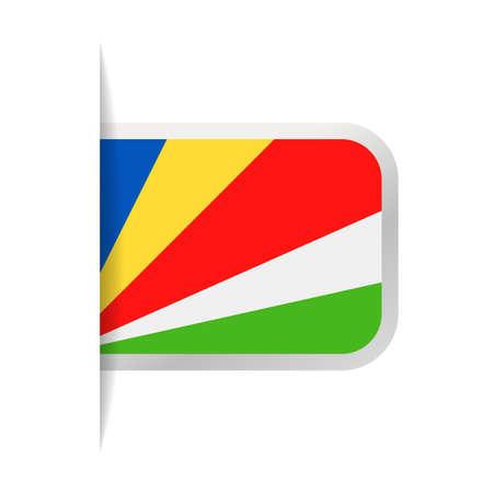 Seychelles Flag Vector Bookmark Icon - Illustration Stock Illustratie