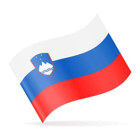 Slovenia Flag Vector Waving Icon - Illustration