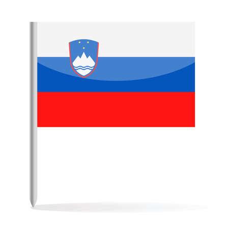 Slovenia Flag Pin Vector Icon - Illustration