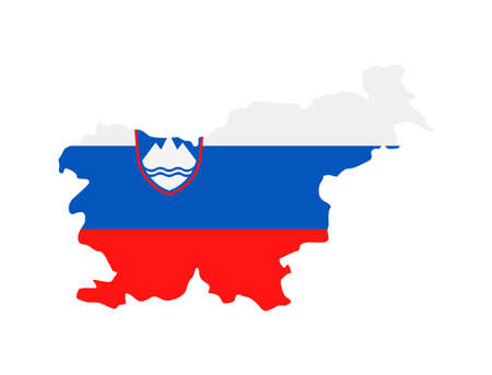Slovenia Flag Country Contour Vector Icon - Illustration Illustration