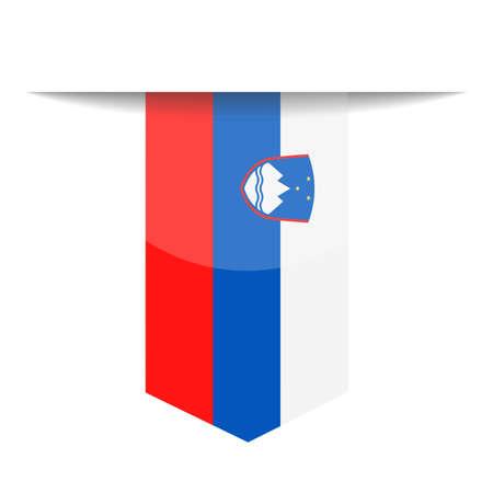 Slovenia Flag Vector Bookmark Icon - Illustration