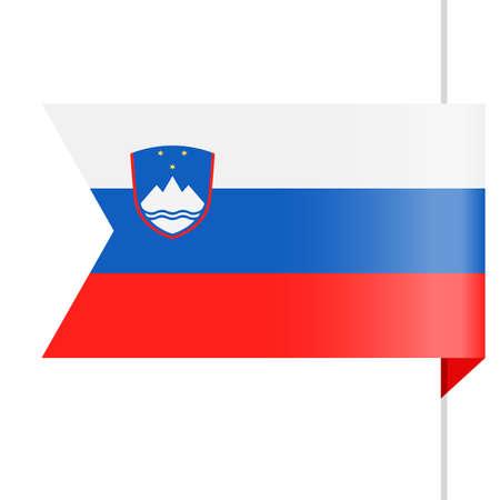 Slovenia Flag Vector Bookmark Icon Illustration