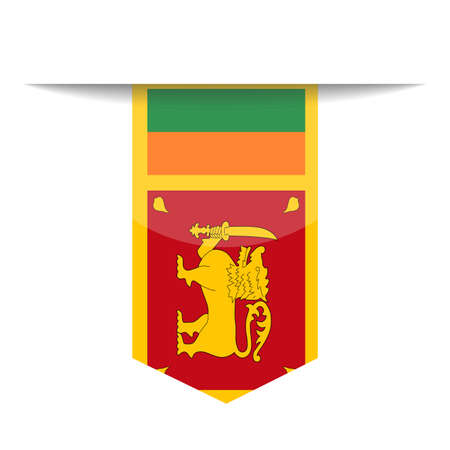 Sri Lanka Flag Vector Bookmark Icon - Illustration