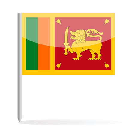 Sri Lanka Flag Pin Vector Icon - Illustration