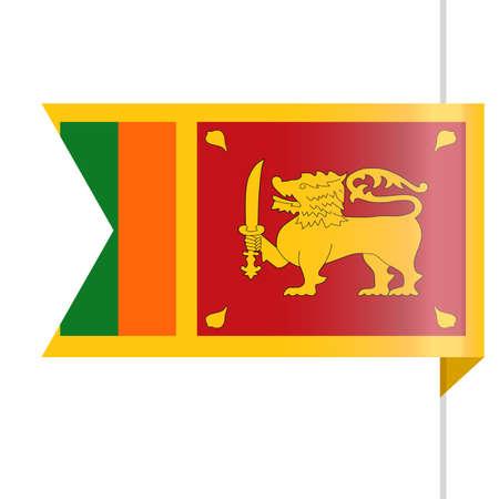 Sri Lanka Flag Vector Bookmark Icon Illustration