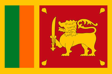 Sri Lanka Flag Vector Icon - Illustration