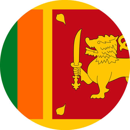 Sri Lanka Flag Vector Round Flat Icon - Illustration Иллюстрация
