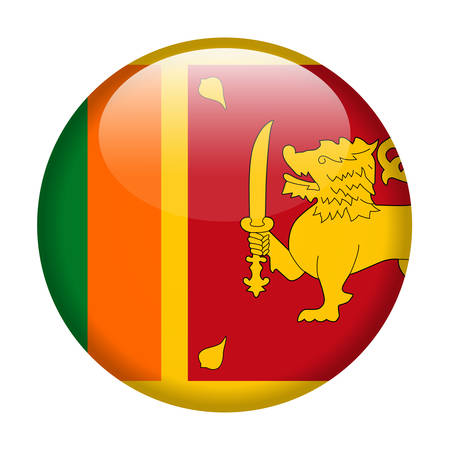Sri Lanka Flag Vector Round Icon - Illustration Иллюстрация