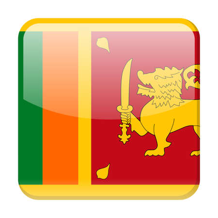 Sri Lanka Flag Vector Square Icon - Illustration Иллюстрация