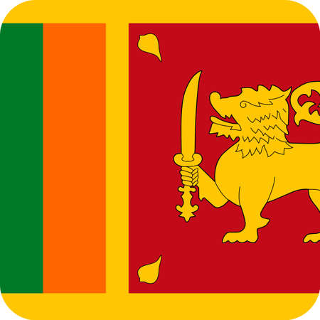 Sri Lanka Flag Vector Square Flat Icon - Illustration