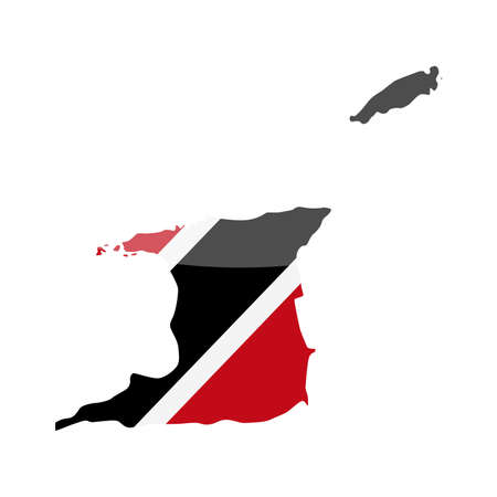 Trinidad and Tobago Flag Country Contour Vector Icon - Illustration Illustration