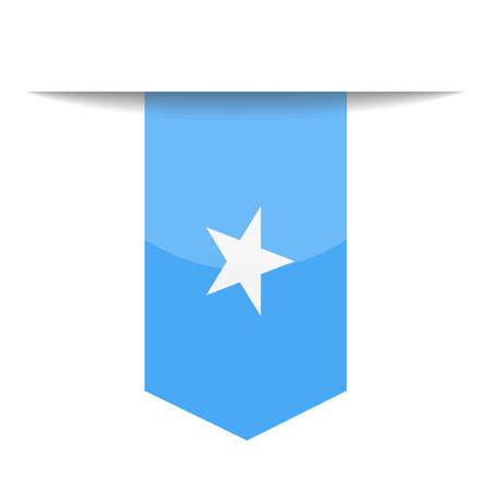 Somalia Flag Vector Bookmark Icon - Illustration